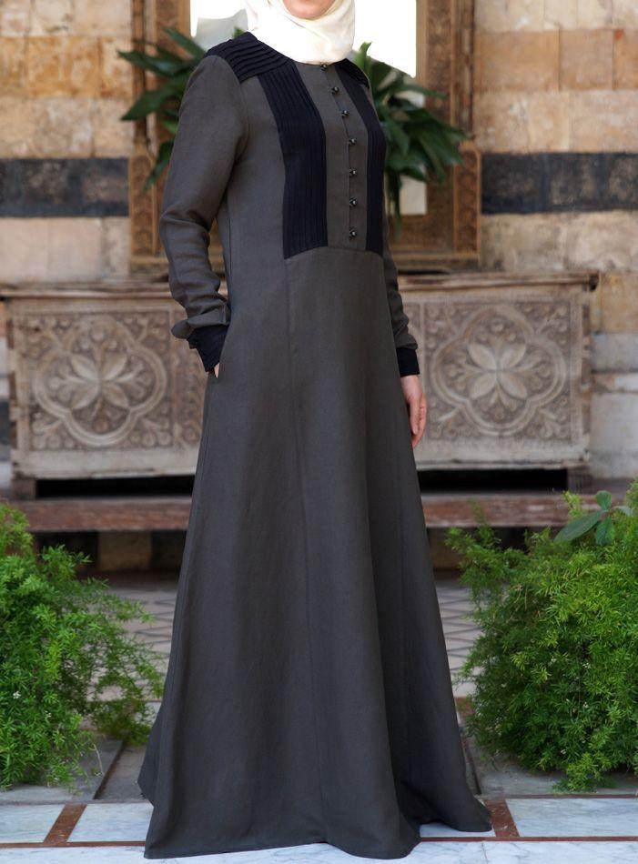 SHUKR USA | 2-Tone Pleated Abaya