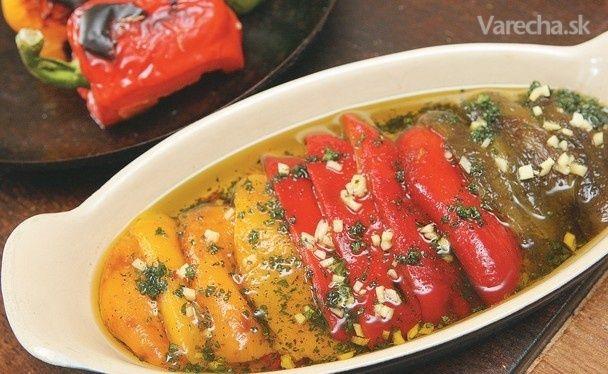 Grilované a marinované papriky