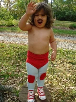 Oh my gosh i just died how cute and funny!! Halloween Costume - Nacho Libre