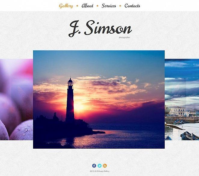 #Photographer Portfolio #MotoCMS #HTML5 #ZendOptimizer  Template #52619