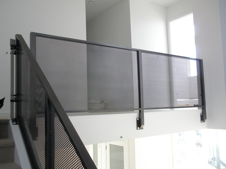 perforated metal railing exterior