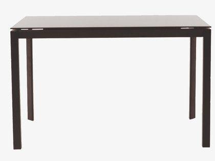 6-8 black glass table