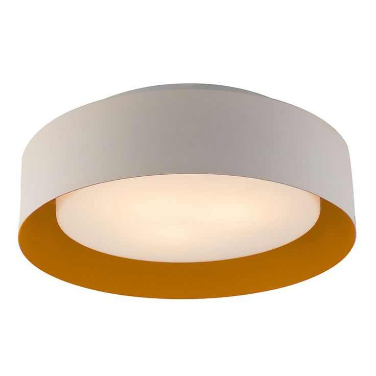 Bromi design lynch white orange flush mount ceiling light product information