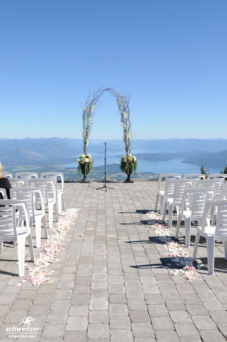 Hand Made Arbor For A Top Of The Mountain Patio Wedding Details Schweitzer