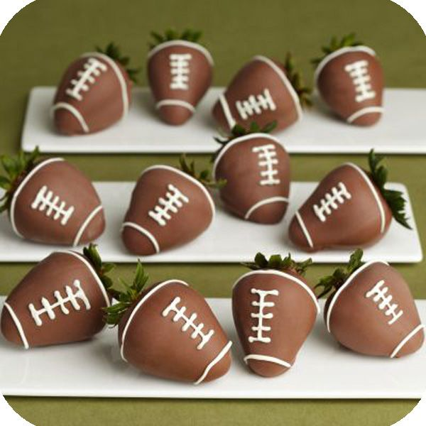 Strawberry Footballs Recipe Chocolate Dipped