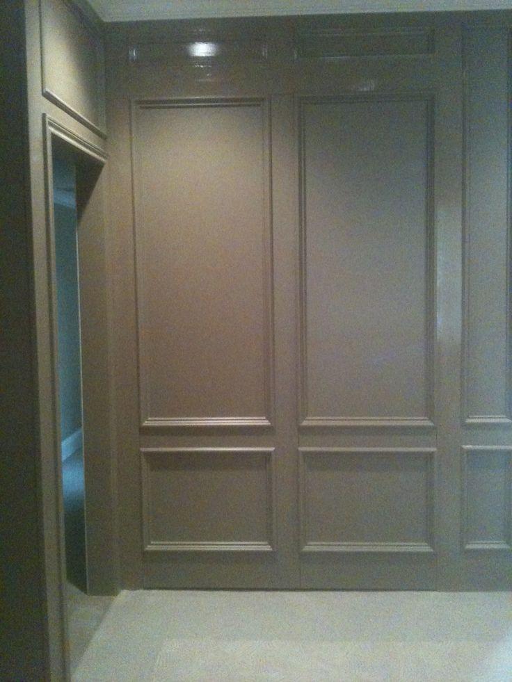 Paneled Wall Look Actually A Door Hidden Doors In Walls Hidden Door Murphy Door
