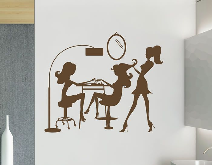 Vinilo especial para decorar las paredes en peluquer as - Vinilos para decorar paredes ...