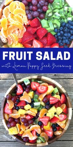 Fruit Salad with Lemon Poppy Seed Dressing by The Whole Cook PINTEREST