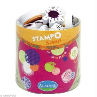 Kit 36 tampons Stampo'scrap Ronds et tâches