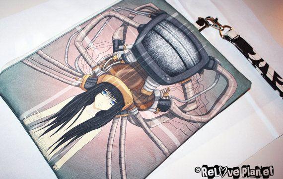 Helmetgirl  Clutch Purse Wristlet Bag  Large by ReLovePlanet