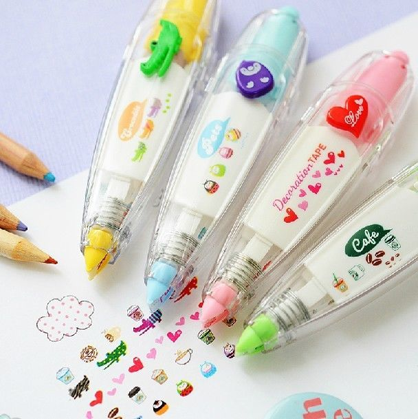 Lot 4pcs Kawaii Cute Animal decoration Deco Cartoon tape Korean Stickers rolls #Border