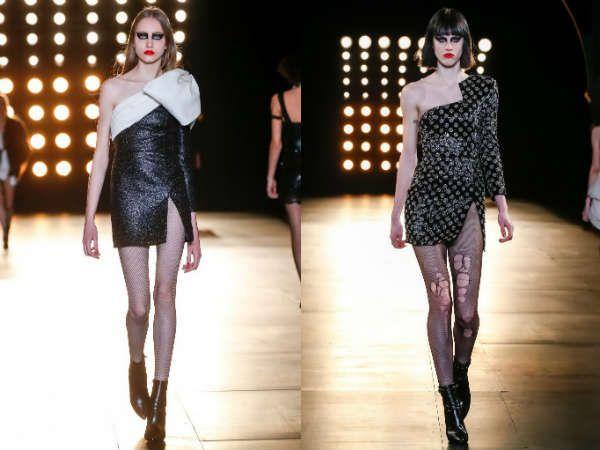 Модные асимметричные платья осень-зима 2015-2016