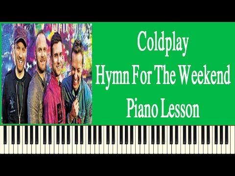 Coldplay Hymn For The Weekend Easy Piano Lesson - How To Play Coldplay H...