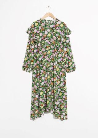 & Other Stories | Shoulder Frills Midi Dress