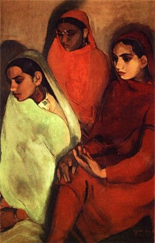 'Group of Three Girls' by Amrita Sher-Gil