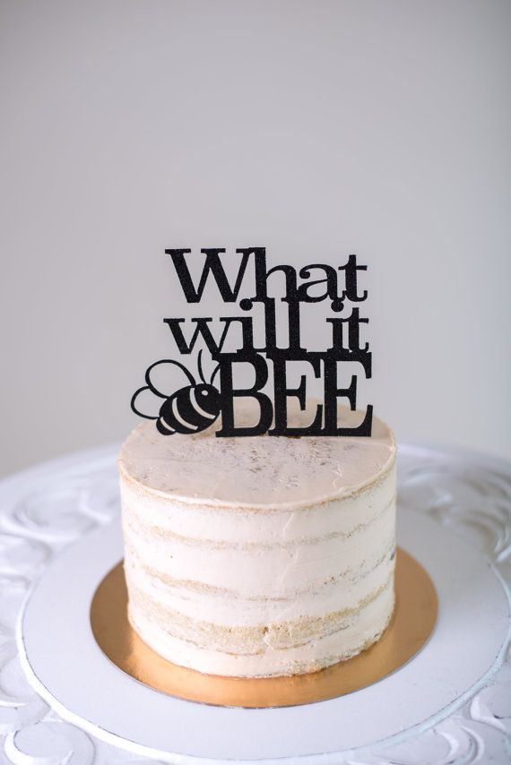 What will it bee? Lets find out, shall we? Create a buzz with this adorable What Will It Bee gender reveal cake topper! Available in both 5