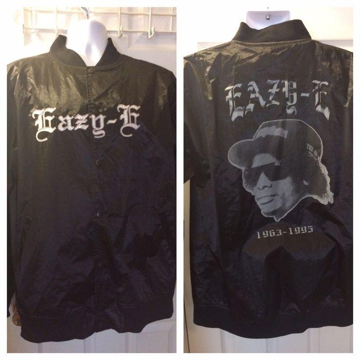 RARE Ruthless Records EAZY-E Jacket Coat Black Satin NWA Compton 80's L/XL  | eBay