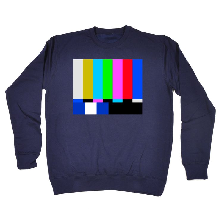 123t USA TV Colour Test … Block Design Funny Sweatshirt