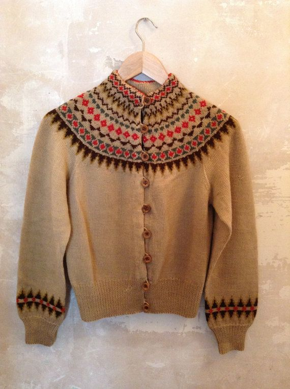 Arm Knitting Cardigan : Best vintage hand knit cardigans images on pinterest