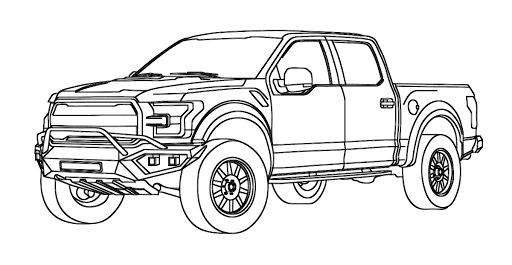 gambar mewarnai mobil truck coloring pages ford raptor truck f 150 raptor