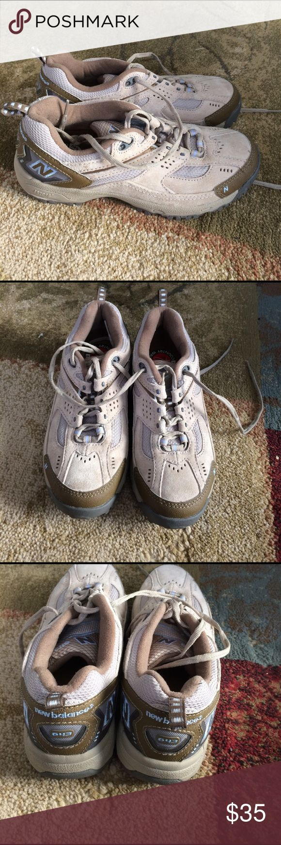 New Balance 643 Walking shoes size 8.5 New Balance 643 Walking shoes size 8.5. In great condition. Only wore a couple of times. Brown and light blue in color. Comes from smoke free and pet free home. New Balance Shoes Athletic Shoes