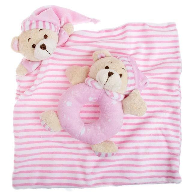 igiftFRUITHAMPERS.com.au - Sleepytime Teddy Bear Rattle and Cuddle Baby Rug Pink, $14.99 (http://www.igiftfruithampers.com.au/sleepytime-teddy-bear-rattle-and-cuddle-baby-rug-pink/)   Spice up your baby gift hamper or gift basket with one of these cute spice up my hamper additions  http://www.igiftfruithampers.com.au/bears-soft-toys-for-baby-gifts/  #baby #gifts #hampers #baskets #delivered #australia #sydney #melbourne #brisbane #goldcoast #canberra #act #nsw #vic #qld #luxury #boxes #fruit…