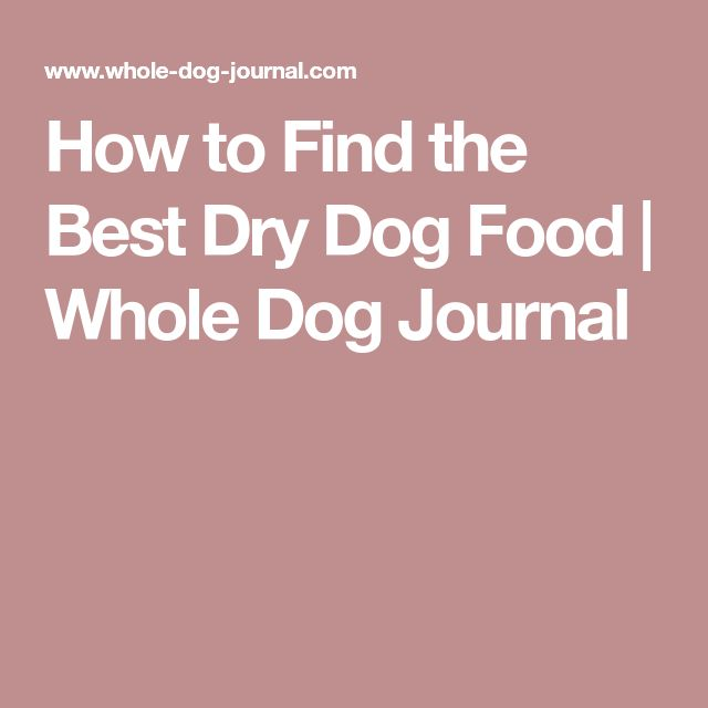 Whole Dog Journal Best Puppy Food