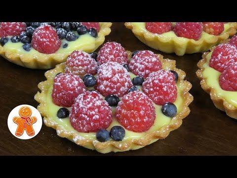 Корзиночки (тарталетки) с заварным кремом и ягодами - YouTube