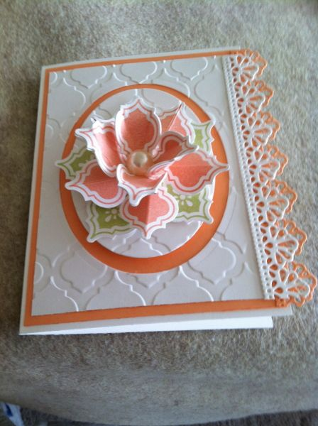 Gorgeous! I LOVE this card with the mosaic flower!!.... this is a Stampin' Up card, but I don't know who made it. (Please let me know if you know so I can give credit - a blog post would be nice!)