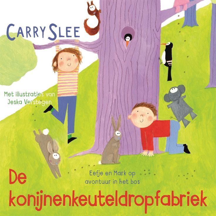 De konijnenkeuteldropfabriek | Carry Slee: Eefje en Mark gaan met hun hond Boef bij opa en oma in het bos logeren. Daar valt van alles te…
