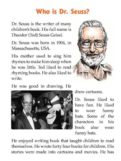literature-grade 1-biography -Who is Dr Seuss (2) Dr Seus Week
