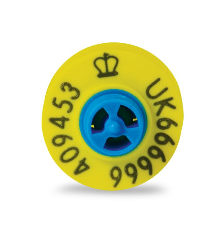 Blue Helix Button - Secondary Only #Cattle #Tags #CattleTags #BlueHelix