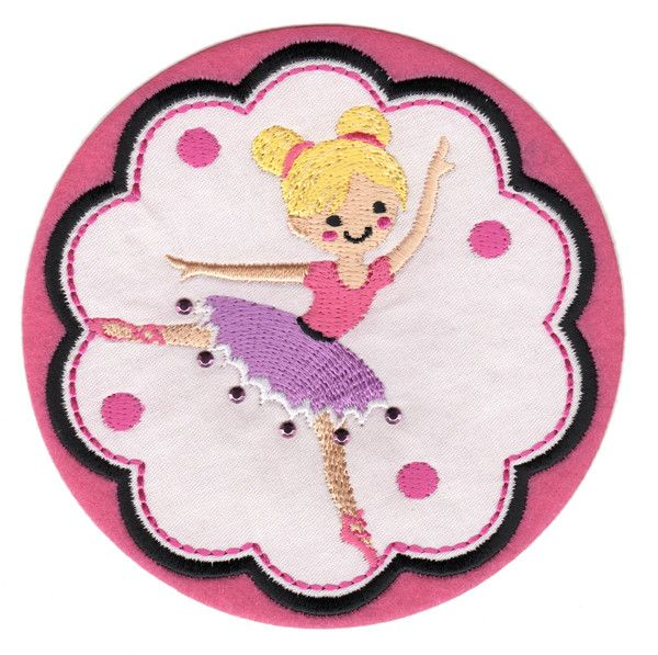"Ballerina 2 Iron-On Applique Patch - Size: 4"" x 4"" (10 x 10 cm) - $5.49"