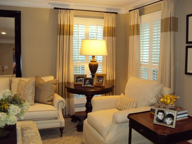 client in Potomac, Maryland living room after...