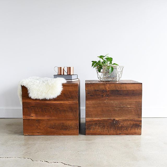 Featuring our NEW reclaimed wood storage box table. Yes, these bad boys open for storage! Hide your pillows, blankets or your kids unsightly plastic toys 😂...it's a win win! Click on our website -link in profile for more! .  .  .  #storage #momlife #reclaimedwood #furniture #furnituremaker #furnituredesign #woodgrain #woodshop #interiordesign #interiorstyling #minimaldesign #scandinavian #scandinavianhome #nordic #modernhome #moderndesign #modernbohemian #sodomino #mydomaine #myhomestyle…
