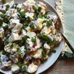 Potato Salad with Dill Chive Yogurt Dressing {Mariano's Grocery Store Chicago}