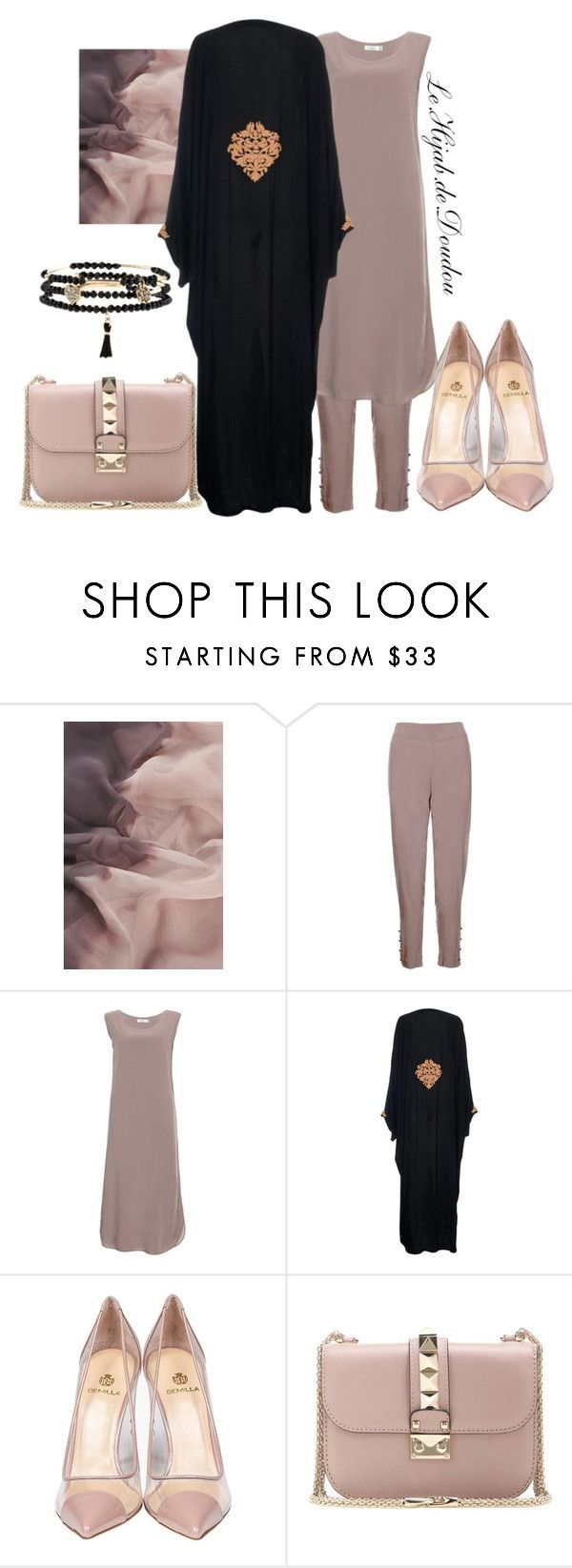 """Eid outfit"" by le-hijab-de-doudou ❤ liked on Polyvore featuring Semilla and Valentino"