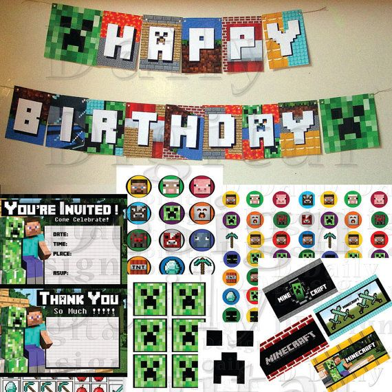 Best Minecraft Birthday Ideas Images On   Minecraft