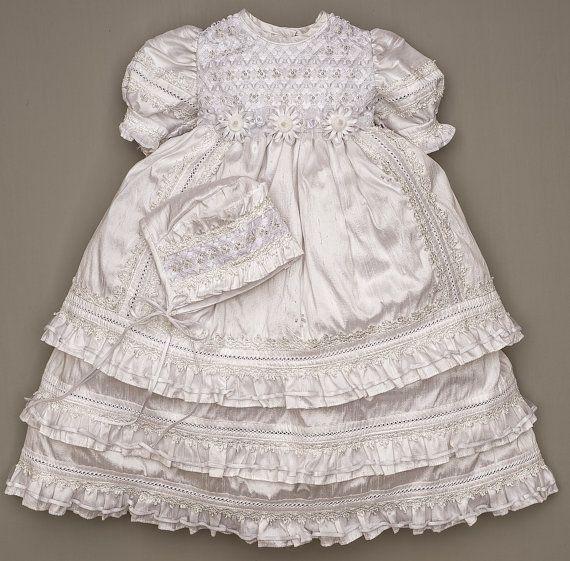HandMade Christening Gown for Girls  Embellished by Burbvus #baptism #christening dress