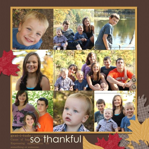 Scrapbooking ideas - a good amt of photos on the page - that's just like what I do
