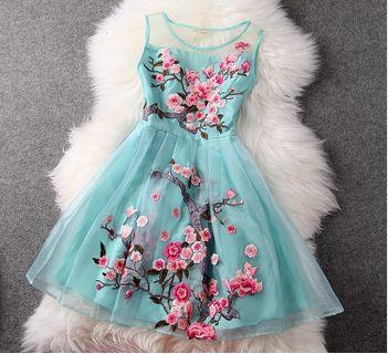 """Stunning """"Water Lake"""" Dress."""