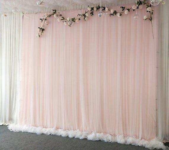 Tulle Wedding Backdrop For Reception Wedding Ceremony Backdrop