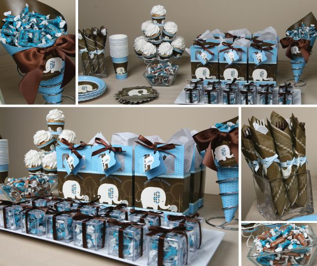 Image Detail For  Here Are More Blue Baby Elephant Baby Shower Theme  Decoration Ideas .