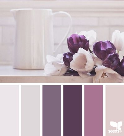 Purples and Creams ~ Great Colour Scheme For A Bedroom, Just Needs A Hint Of Lilac