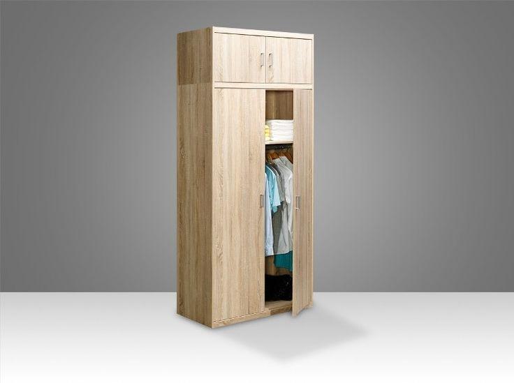 Softplus Hinged wardrobe (Oak) -