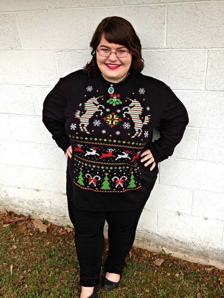 "Unique Geek: Plus Size OOTD: ""Ugly"" Christmas Sweater:"