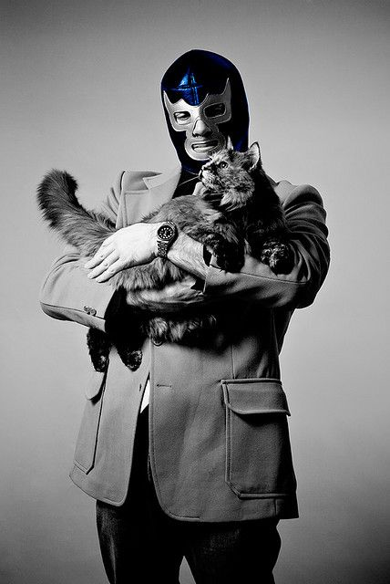 Blue Demon and His Cat