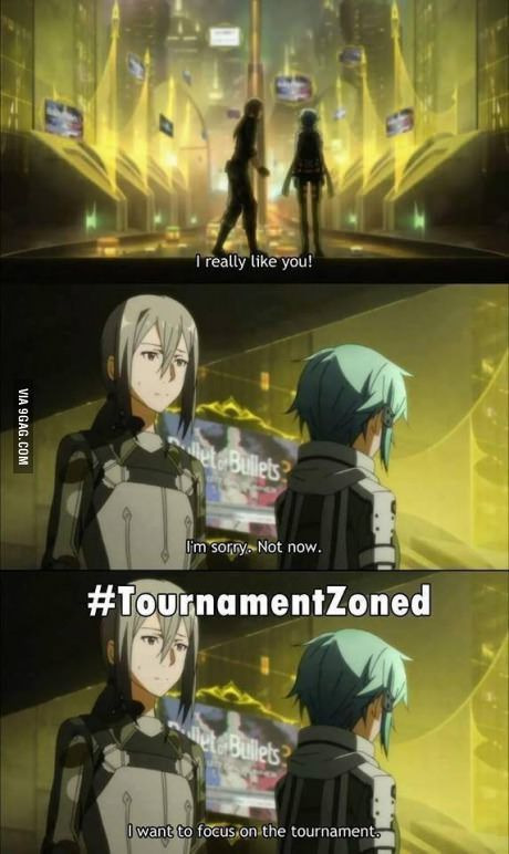 New stage of friendzoning (Sword Artwork On-line II) i am glad Sinon rejected him anyway CUZ HE'S HORRIBLE D: BUT FOR THOSE OF YOU WHO DON'T KNOW WHAT I'M TALKING ABOUT, I WILL NOT SPOIL