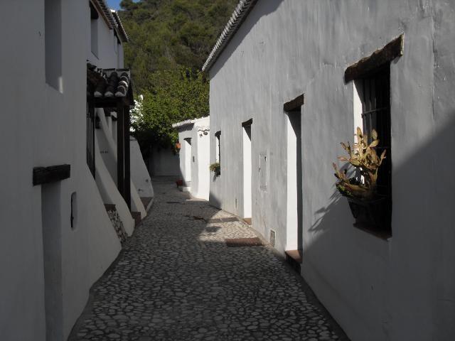 El Acebuchal, aldea rústica y de calles empredradas, entre Frigiliana y Cómpeta (Málaga)