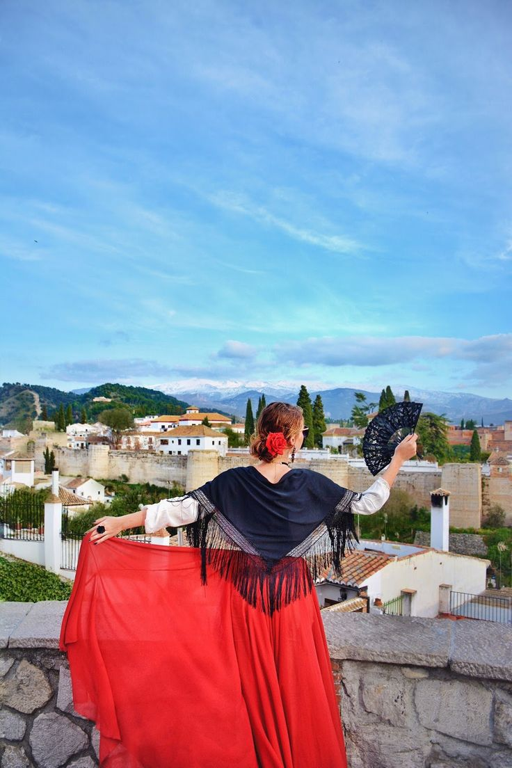 #MyDressStories in Spain Andalucia Granada, spanish girl outfit фотосессия испанка  My dress stories фотосессии в платьях в разных уголках мира фотопроект блогера Ninelly